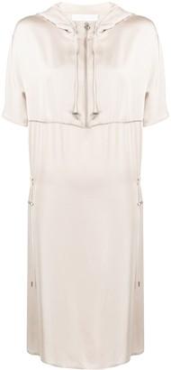 Fabiana Filippi Hooded Satin Dress