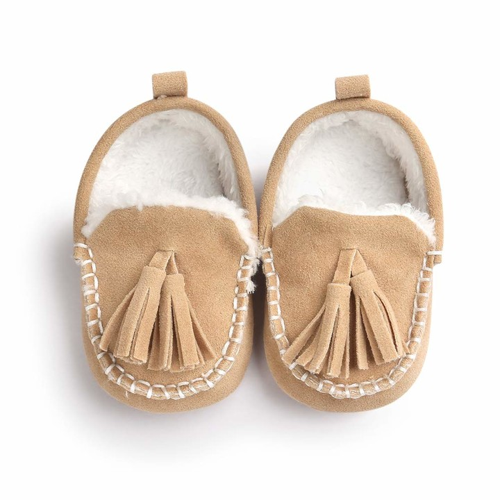 Thumbnail for your product : Morbuy Baby First Walking Anti-Fur Shoes Newborn Infant Boy & Gril Soft Anti-Slip Cute Sneaker Sole Keep Warm Crib (11cm / 0-6 Month