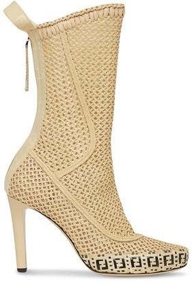 Fendi FF motif mid-calf boots