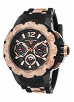 Swiss Legend Men's 'Ultrasonic' Quartz Stainless Steel and Silicone Casual Watch, Color:Black (Model: 14096SM-BB-01-RA)