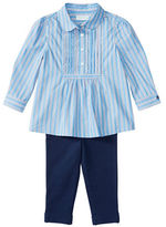 Ralph Lauren Baby Girls Two-Piece Top and Leggings Set