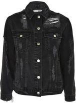Topshop PETITE Extreme Ripped Denim Jacket