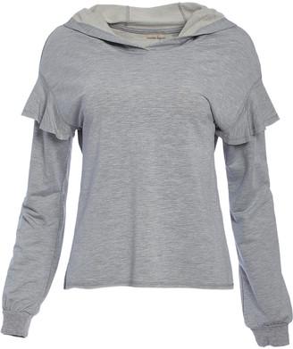 Nanette Lepore Women's Sweatshirts and Hoodies GREY - Gray Ruffle-Sleeve Hoodie - Women