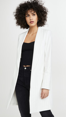 Alice + Olivia Kylie Long Easy Shawl Collar Jacket