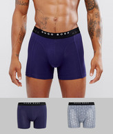 HUGO BOSS BOSS By Boxer Brief Trunks 2 Pack Print