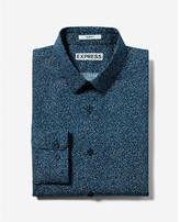 Express extra slim fit pattern cotton dress shirt