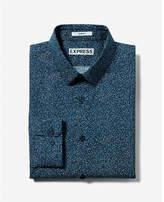 Express slim fit pattern cotton dress shirt