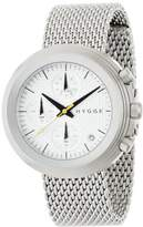 Hygge 2312 Unisex Quartz Watch with White Dial Chronograph Display and Silver Stainless Steel Bracelet MSM2312C(CH)