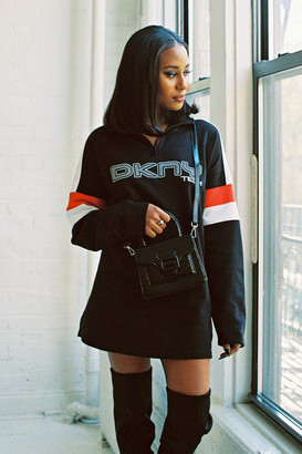 DKNY Tech UO Exclusive Half-Zip Sweatshirt Dress
