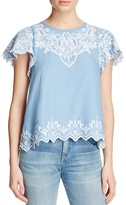Parker Tier Embroidered Top