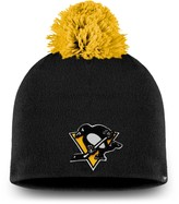 Women's Fanatics Branded Black Pittsburgh Penguins Paramount Pom Knit Beanie