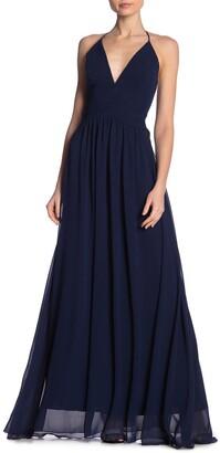 Meghan La Enchanted Garden Solid Maxi Dress