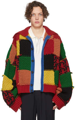 J.W.Anderson Multicolor Colorblock Patchwork Cardigan