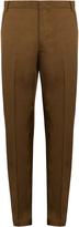 Lanvin Slim-leg cotton chino trousers