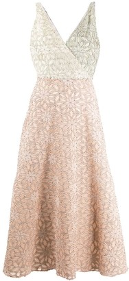 Harris Wharf London Floral Fil Coupe Dress