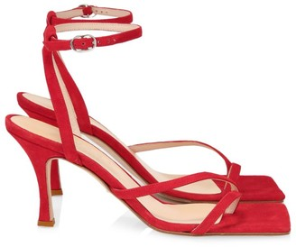 A.W.A.K.E. Mode Delta Asymmetric Square-Toe Suede Sandals