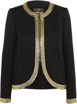 Roberto Cavalli Sequin-embellished wool jacket