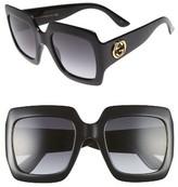 Gucci Women's 54Mm Oversize Square Sunglasses - Black/ Grey