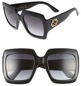 Gucci Women's 54Mm Square Sunglasses - Black/ Grey