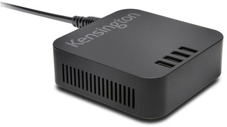 Kensington 48W 4-Port x 2.4 AMP USB Charger/Simultaneous Charging/Optimised Power No