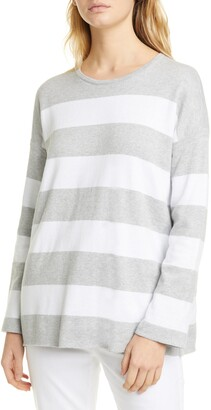 Eileen Fisher Round Neck Box-Top