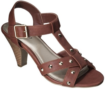 Mossimo Women's Patrice Heeled Sandal with Studs - Cognac