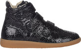 Maison Margiela Women's Glitter Triple-Strap Sneakers-BLACK
