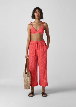 Heart Print Beach Trouser