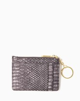 Charming charlie Isla Faux Snakeskin Key Ring Card Case