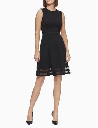 Calvin Klein Illusion Fit + Flare Dress