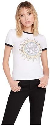 Volcom Go Faster Ringer Tee (White) Women's T Shirt