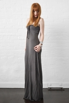 linQ Selene Strapless Long Dress in Mineral