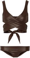 Lisa Marie Fernandez Marie Louise glossed wrap bikini
