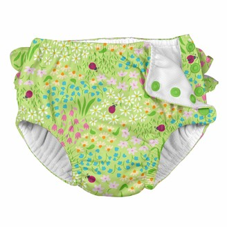 I Play I-Play. Girls' Toddler Ruffle Snap Reusable Absorbent Swimsuit Diaper
