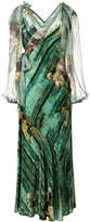 Alberta Ferretti abstract floral dress