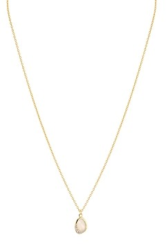 Argentovivo Pave & Mother-of-Pearl Oval Pendant Necklace, 16-18