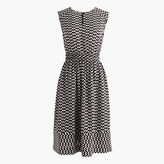 J.Crew Tall cap-sleeve dress in silk geo print