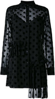 McQ by Alexander McQueen Decon ruffle tunic dress - women - Polyamide/Polyester/Spandex/Elastane/Viscose - 40