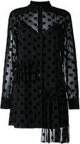 McQ by Alexander McQueen Decon ruffle tunic dress - women - Polyamide/Polyester/Spandex/Elastane/Viscose - 42