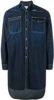 Miharayasuhiro long embroidered denim shirt