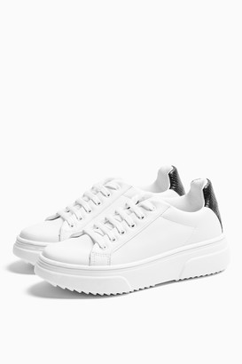 Topshop CANADA Black and White Lace Up Sneakers