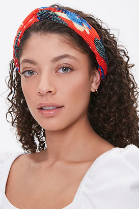 Forever 21 Floral Accordion-Pleat Headwrap