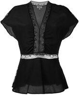 Paul & Joe lace inserts blouse - women - Silk/Cotton/Polyamide - 2
