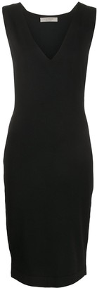 D-Exterior V-neck midi dress