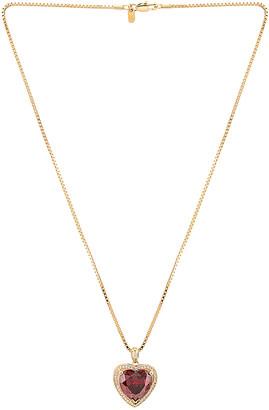 Vanessa Mooney Ruby Heart Necklace