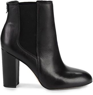 Sam Edelman Case Leather Block-Heel Booties