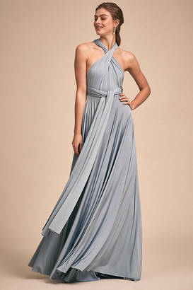 Ginger Convertible Maxi Dress By Twobirds in Blue Size S