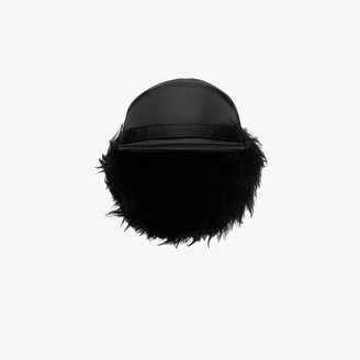 Prada Black Faux Fur Trapper Hat