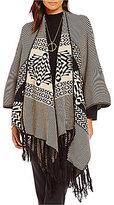 Pendleton Knit Oversized Blanket Shawl
