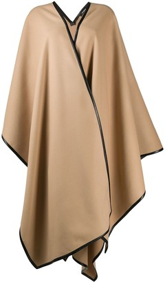 Balmain Draped Wrap Cape